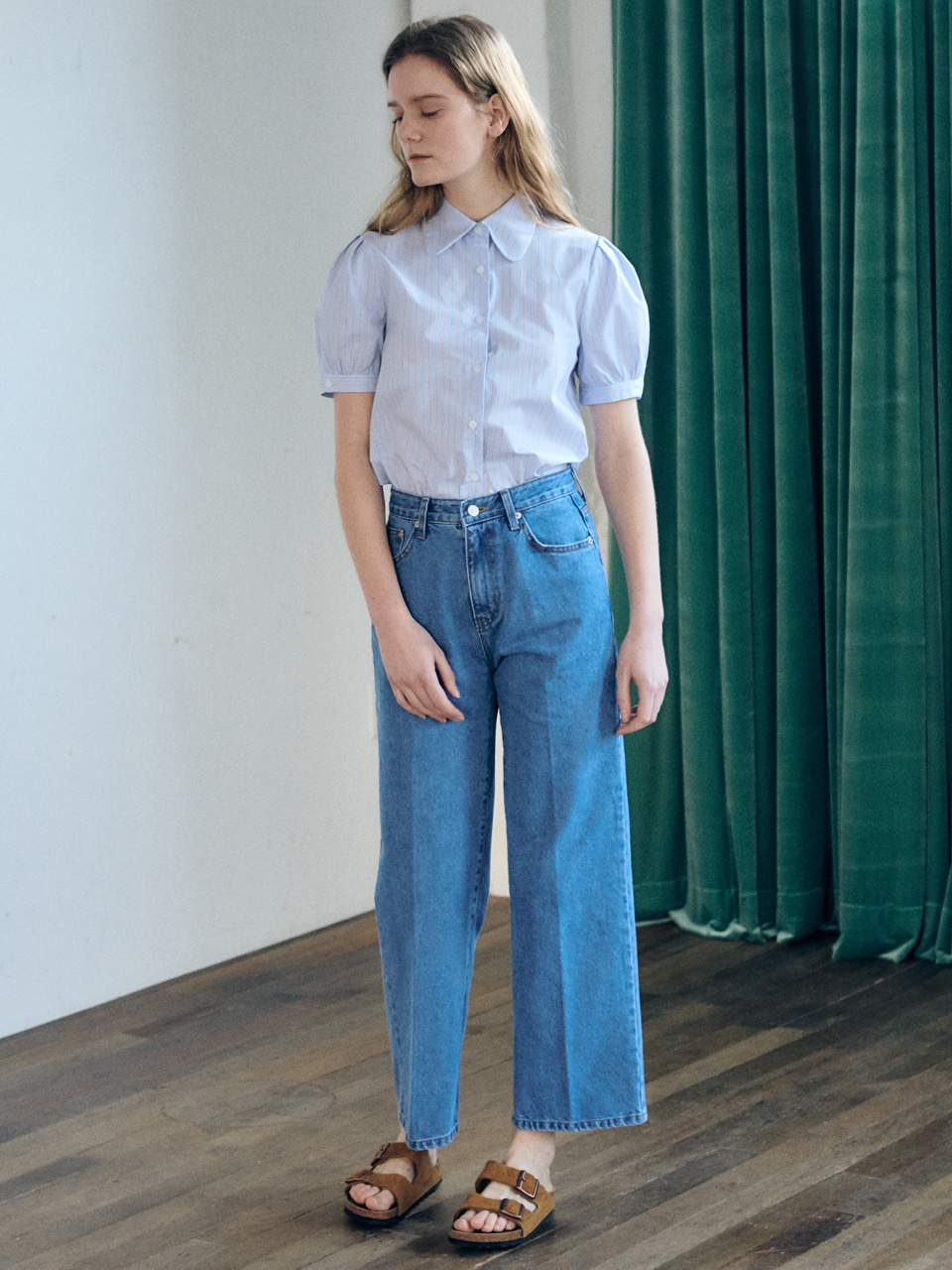 Wide denim pants-light blueBRENDA BRENDEN