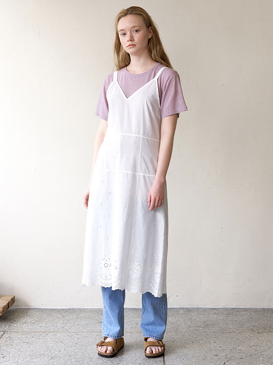 Eyelet Sleep Dress-WhiteBRENDA BRENDEN