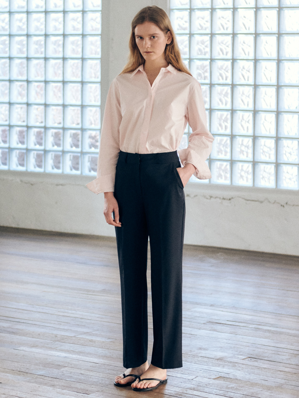 [20일순차발송]Basic long slacks-navyBRENDA BRENDEN