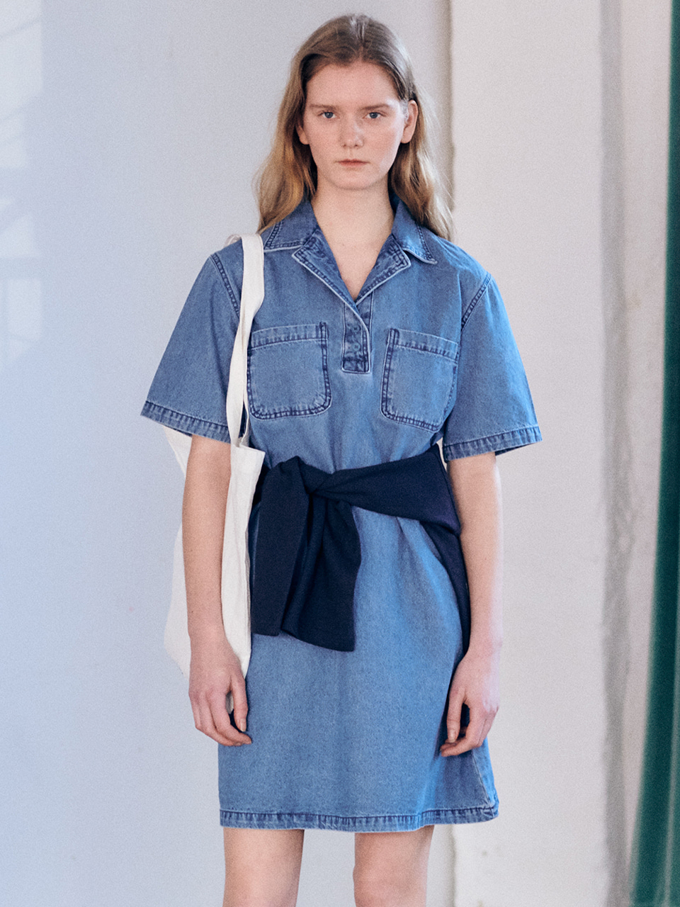 Tailored denim one-pieceBRENDA BRENDEN