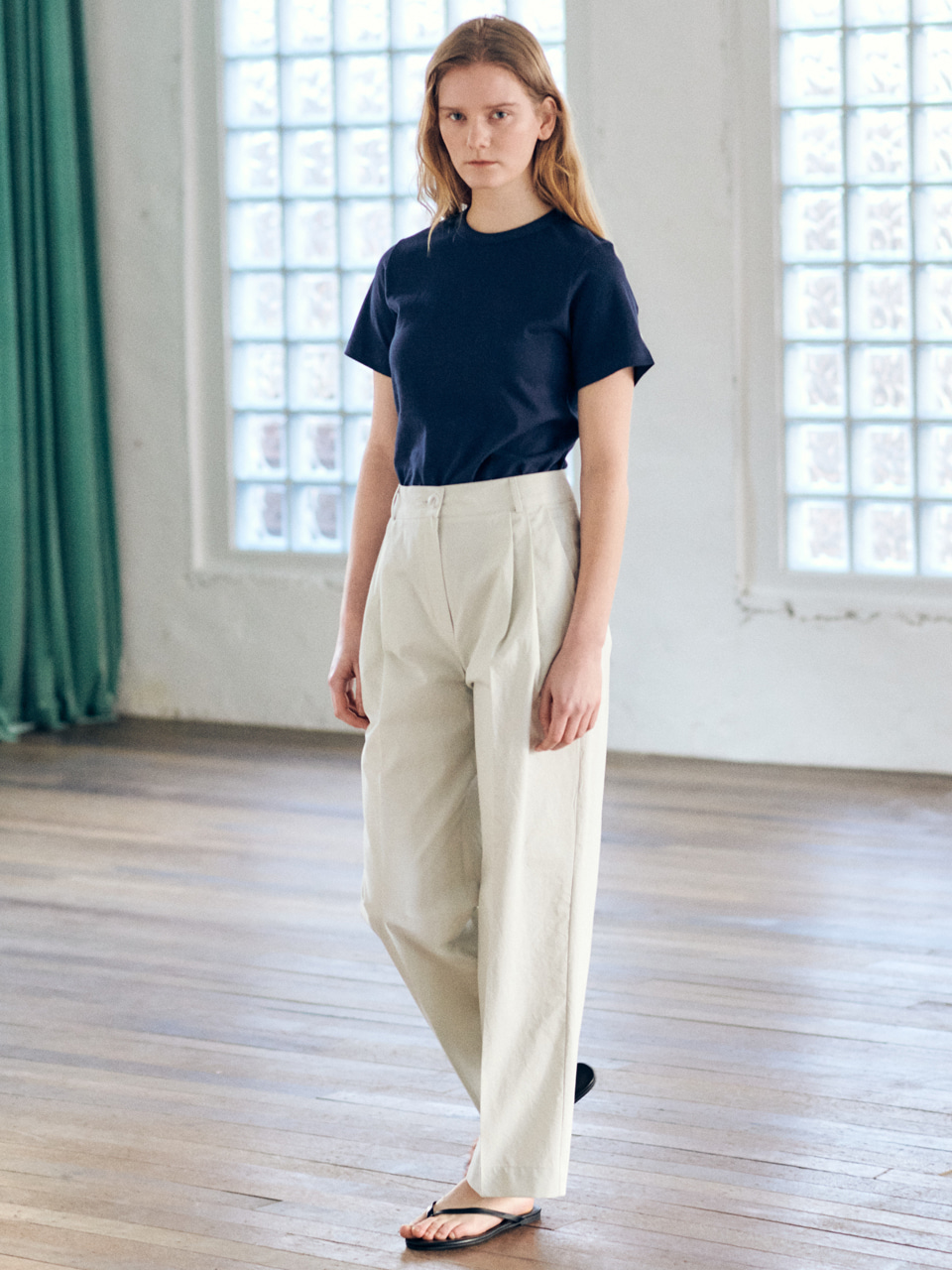 Easy cotton pants-white beigeBRENDA BRENDEN